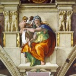 Michelangelo's rendering of the Delphic Sibyl