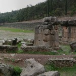 The ancient stadium at Delphi