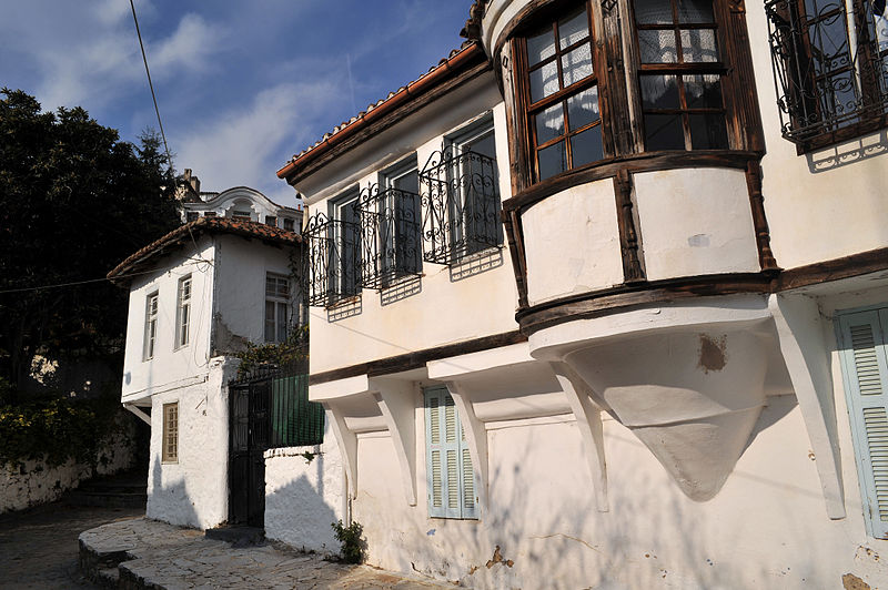 The old city of Xanthi with the beautiful traditional architecture