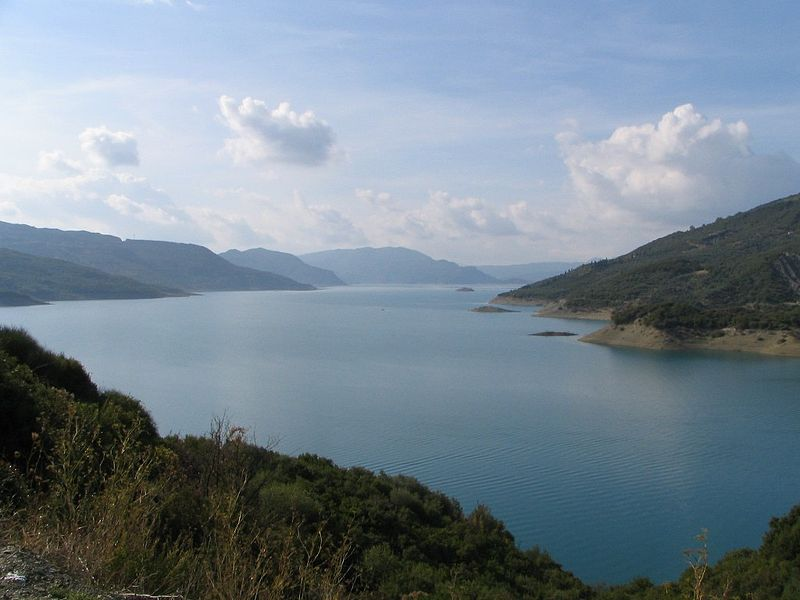 Kremasta Lake, the largest artificial lake in Greece