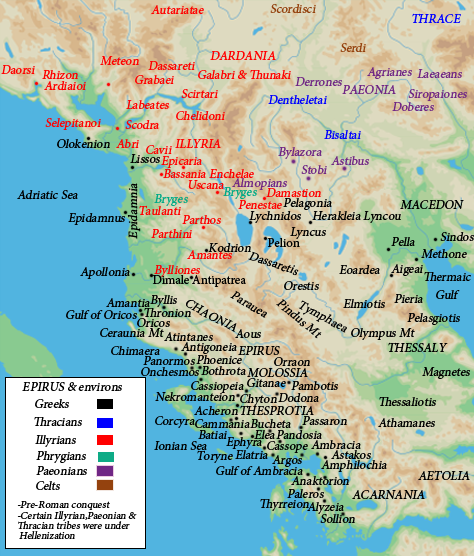 Map of ancient Epirus
