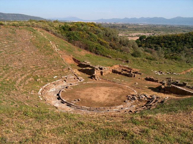 The ancient theatre of Stratos, Etolia Acarnania, Greece