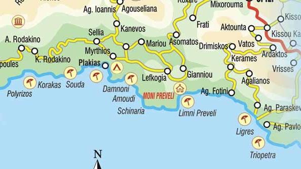 Map of Plakias, Rethymno