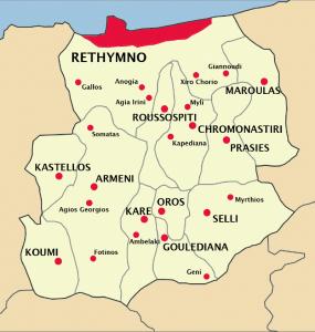 Rethymno municipality districts