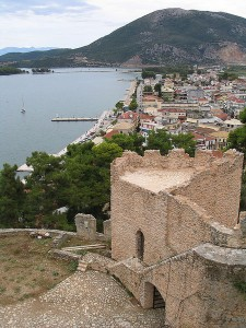Veiw of Vonitsa, seen from the castle