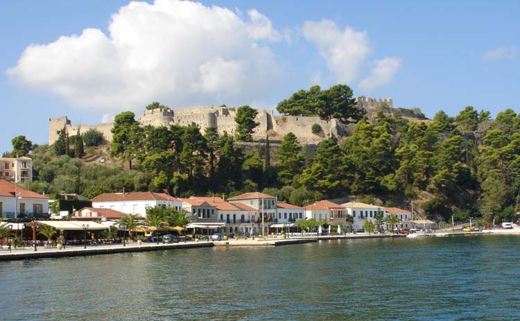 View of Vonitsa and the castle, seen from the mole