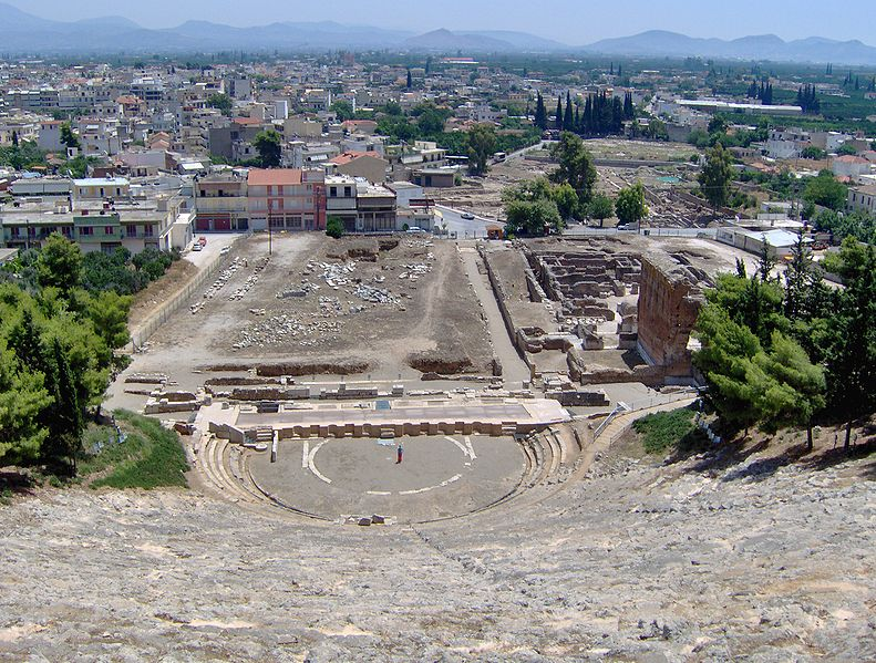 Argos with the oldest theatre in Greece