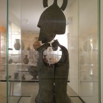 Hoplite armour at the Archeologic Museum of Argos in Greece