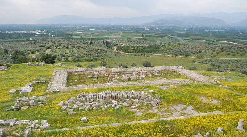 View from the Heraion of Argos into the Inachos plain, Argolis, Greece
