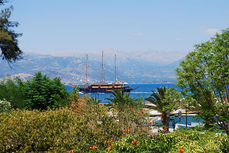 View from Nafplion to Argolis Bay