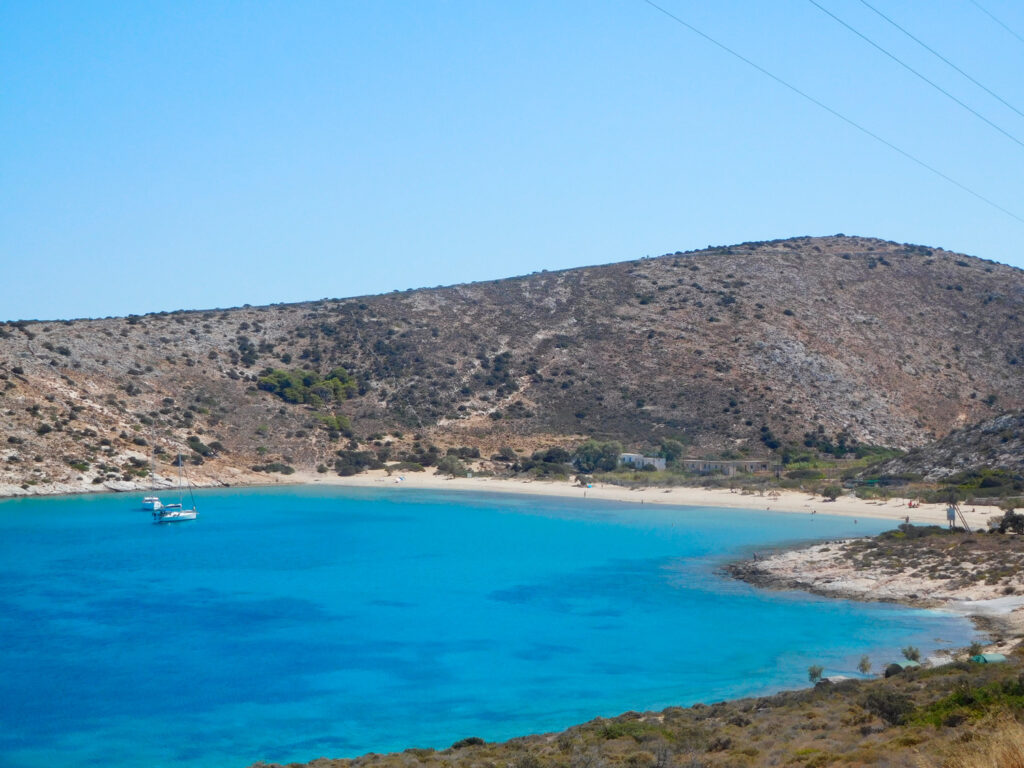 Livadi beach, Iraklia, Smaller Cyclades Greece