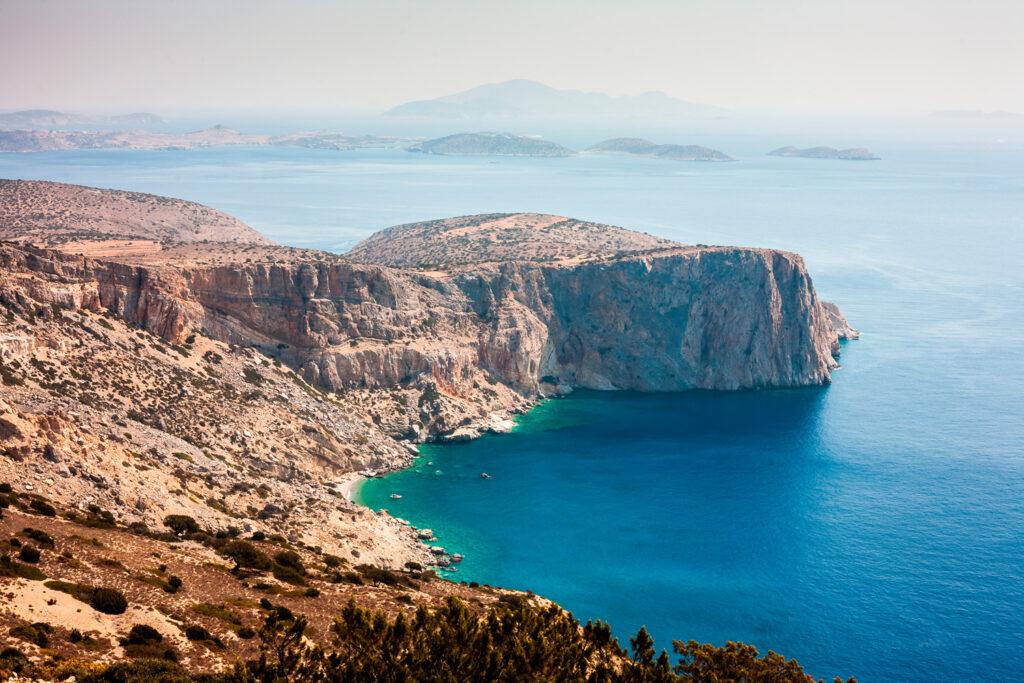 The Merichas Cliffs in Iraklia, Smaller Cyclades Greece
