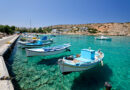 the port of the Greek island of Iraklia Smaller Cyclades Greece