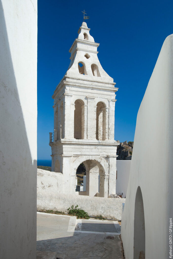 Belltower in Kythira island Greece - Photo by G. Filippini