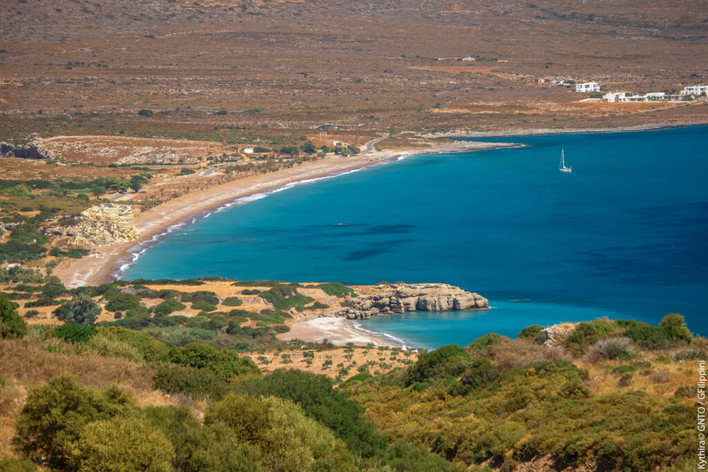 Avlemonas beach in Kythira island Greece - Photo by G. Filippini