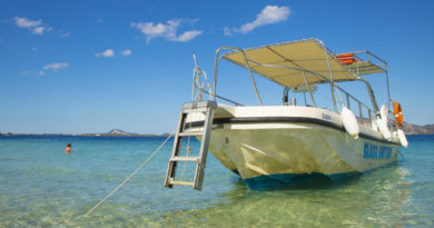 Boat in the Aegean - go greece your way