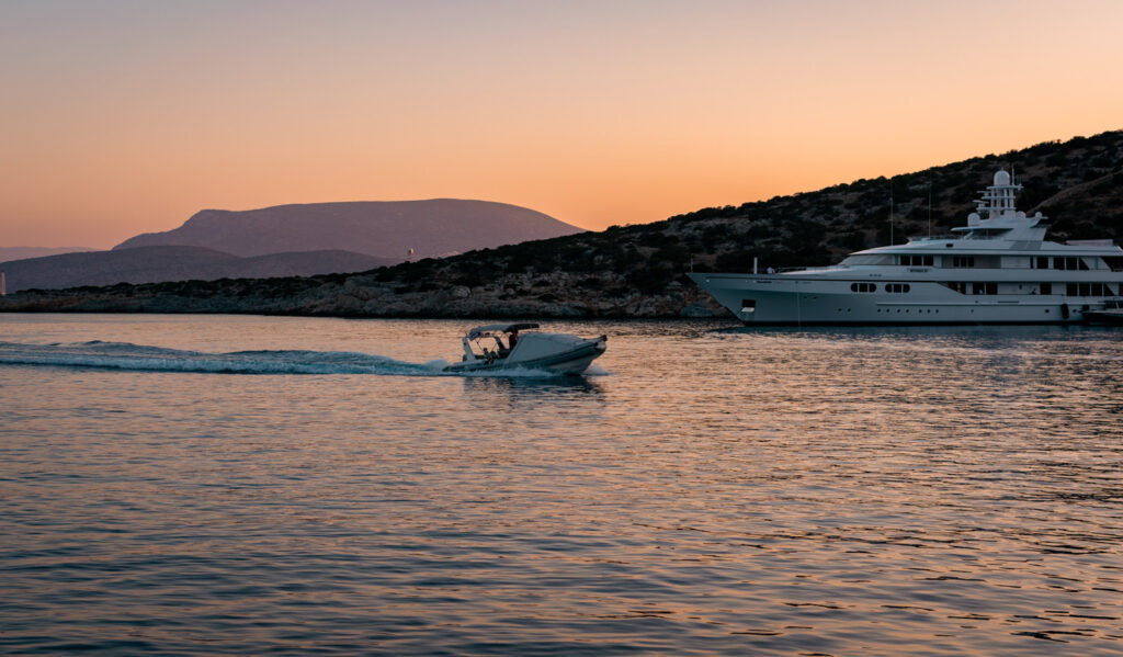 Sunset in Schinoussa, Smaller Cyclades islands Greece - Photo by Fotis Fotopoulos
