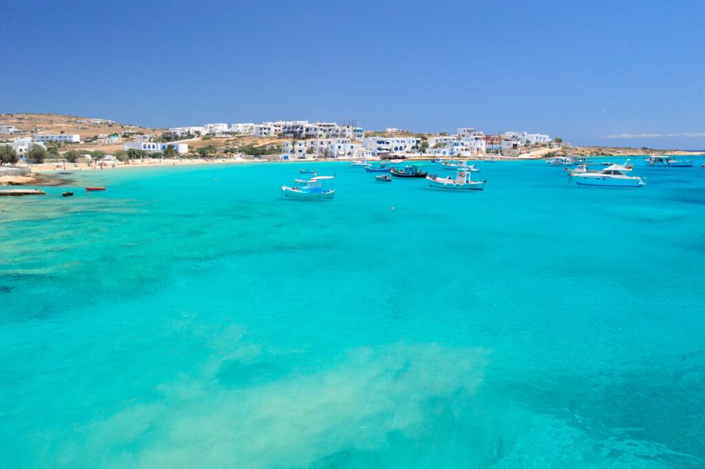 Holiday paradise in Koufonisia, small Cyclades islands between Naxos and Amorgos, Greece