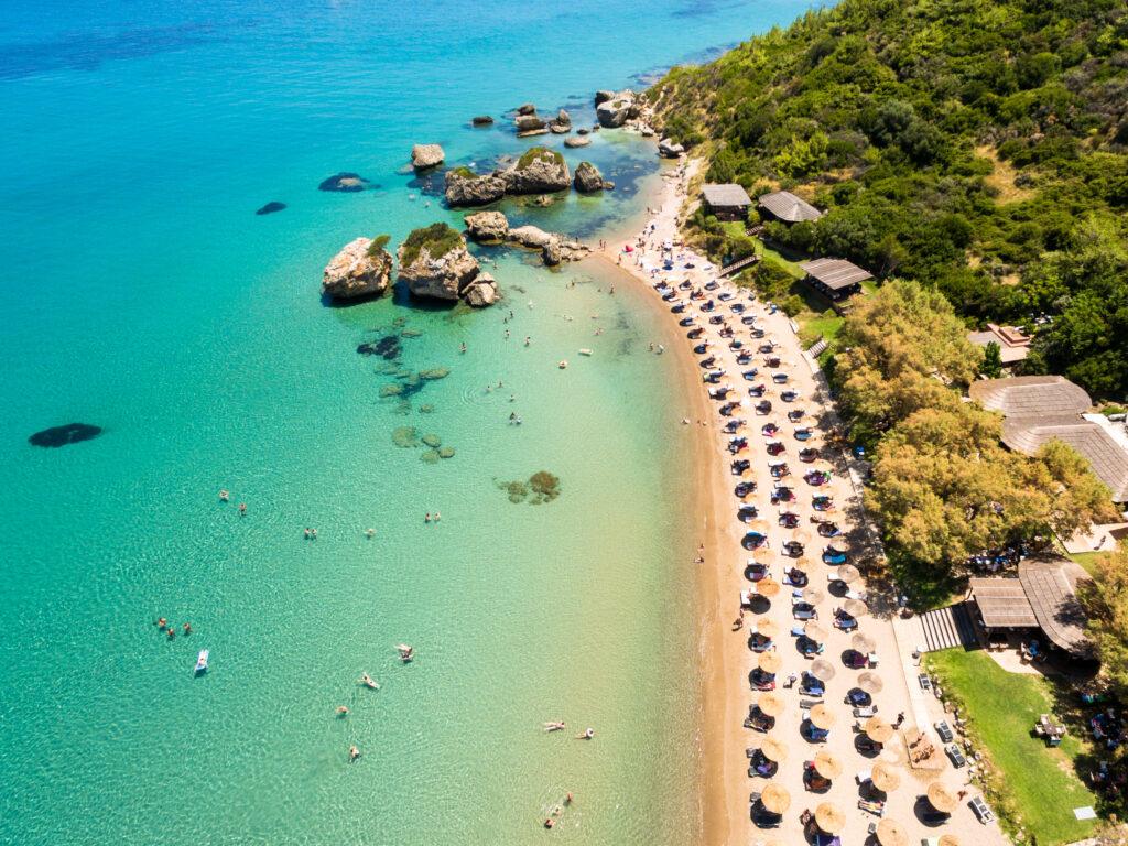 Zante - aerial view of Porto Zorro Azzurro Beach, Zakynthos Island, Greece