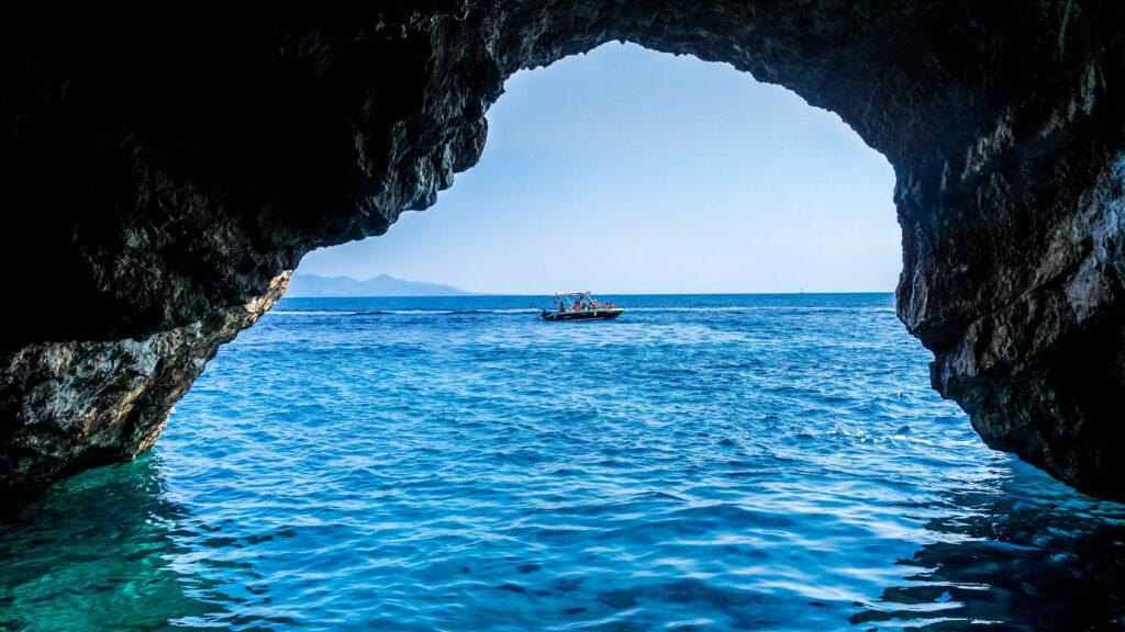 Blue Caves in Zakynthos Greece