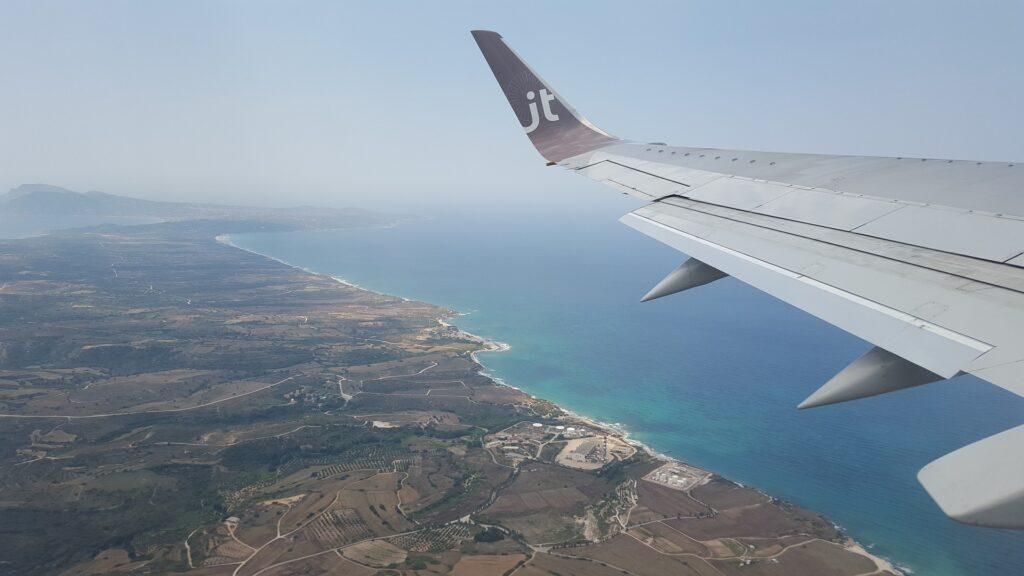 Flight to Zakynthos Greece