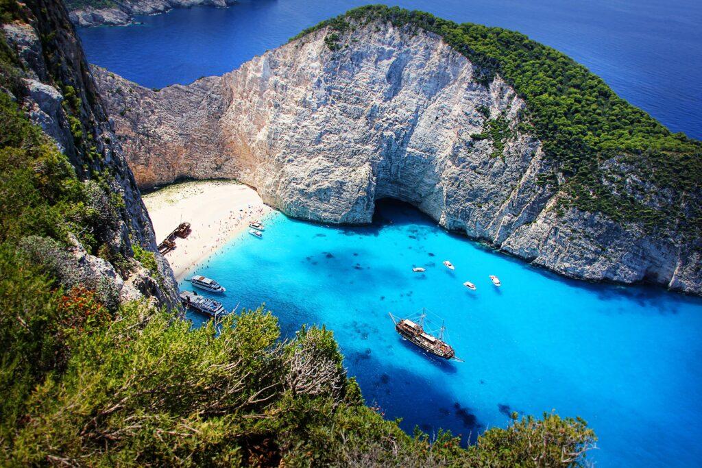 Navagio (shipwreck) beach, Zakynthos, Greece