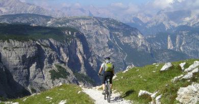 Mountain bike single trail in Greece