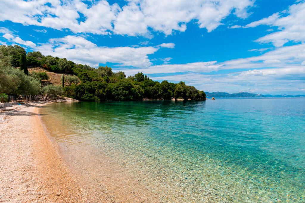 beautiful beach in Meganisi island, Ionian Sea Greece