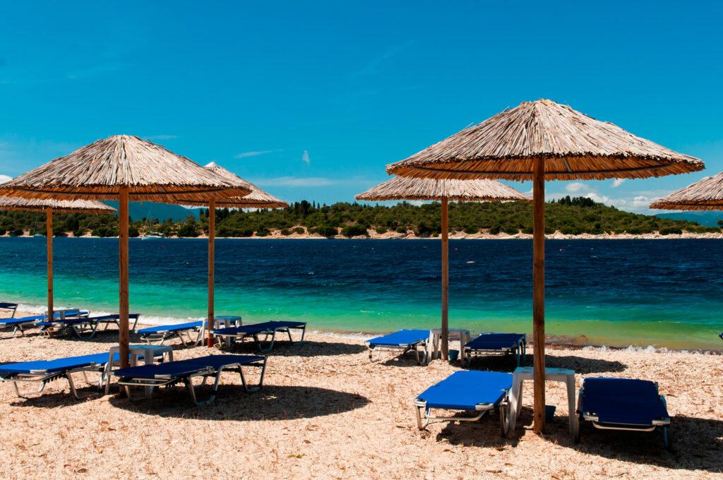 Fanari beach in Meganisi island, Ionian Sea Greece