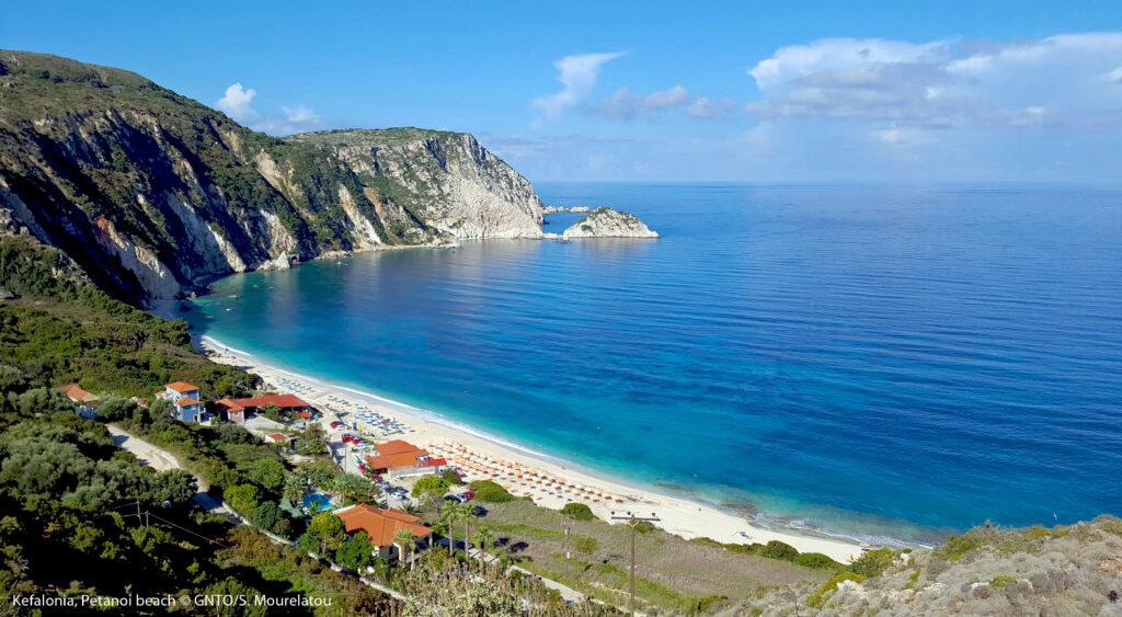 Travel to Kefalonia, Ionian Sea, Greece - Petanoi Beach - Photo S. Mourelatou