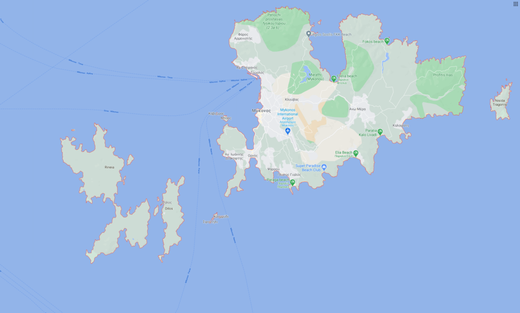 Mykonos Google map