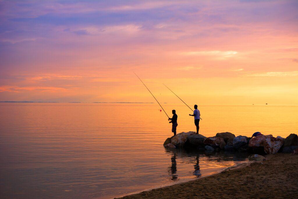 fishing in the Aegean Sea Greece