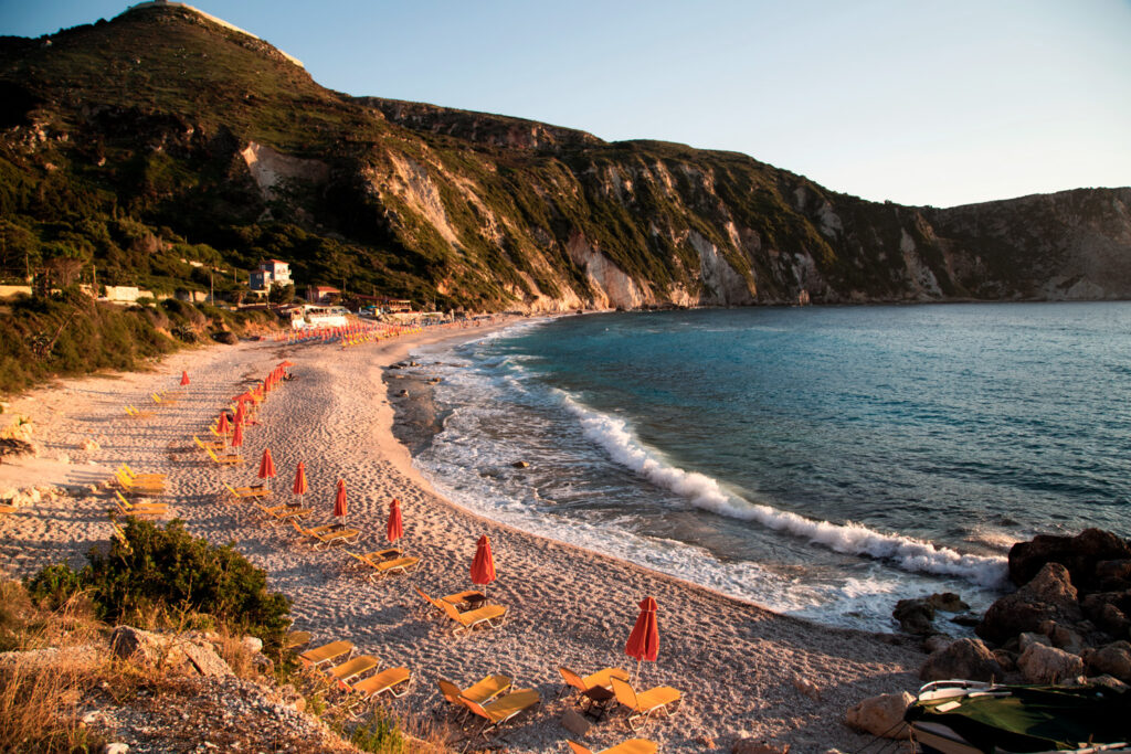 Petani beach, Kefalonia, Ionian islands Greece - amazing sunset