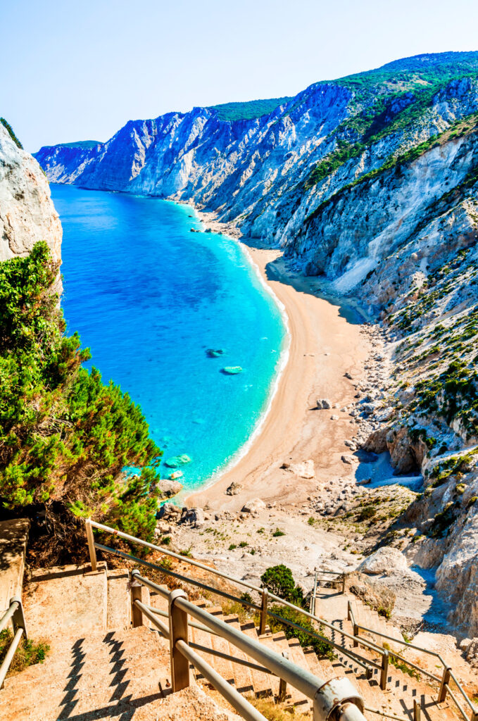 Platia Ammos beach in Kefalonia Greece