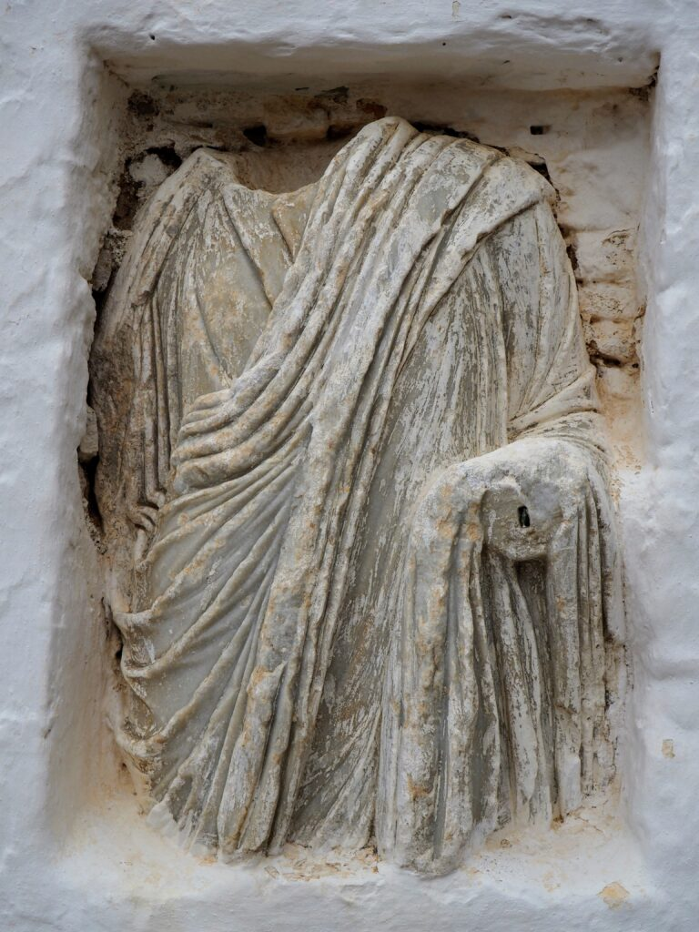 Travel to Folegandros, Cyclades, Greece - ancient statue