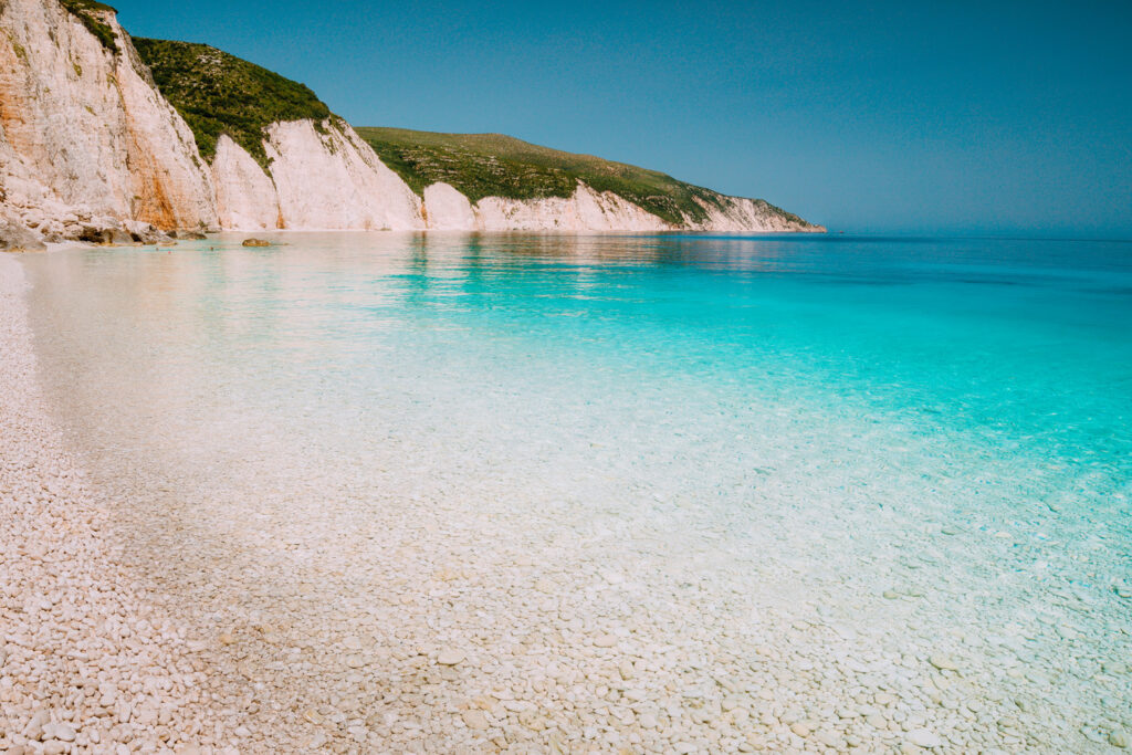 Fteri beach in Kefalonia Greece