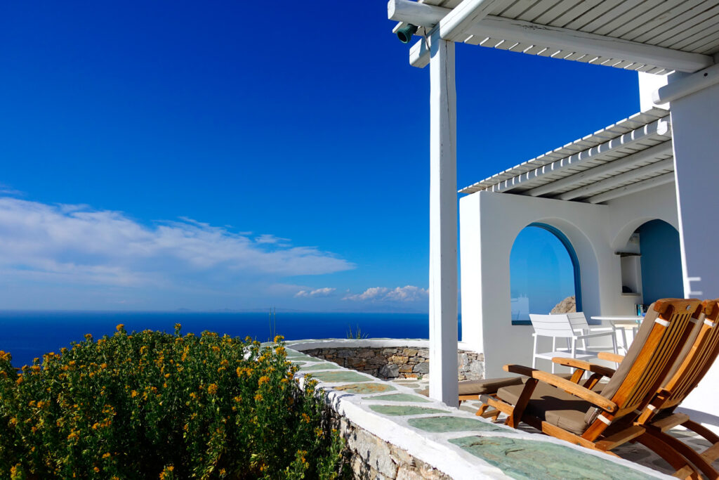 Residence with stunning view to the Aegean Sea, Chora Folegandros, Cyclades, Greece
