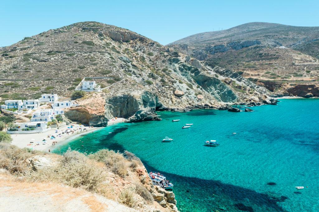 Agali beach Folegandros, Cyclades Greece