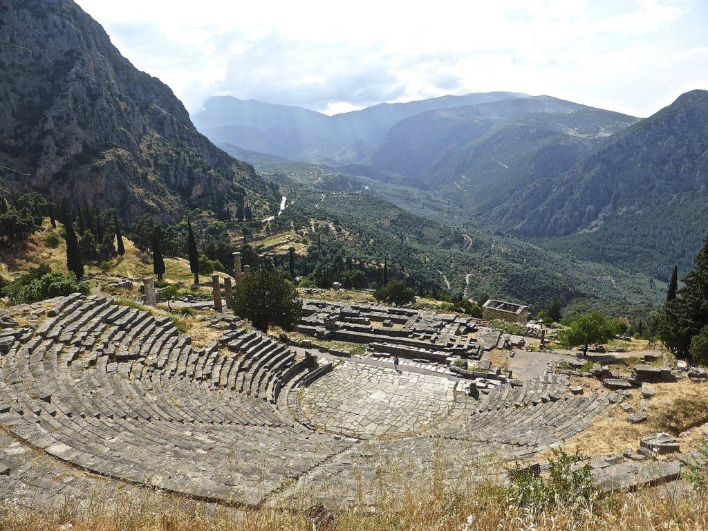 Delphi amphitheatre in Central Greece