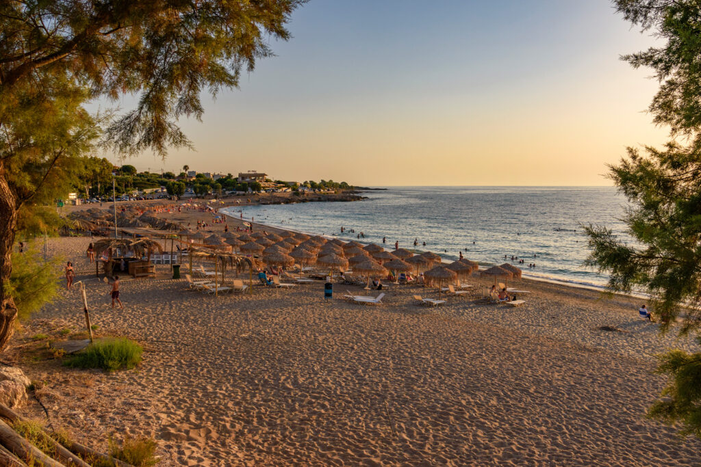Ai Lagoudis beach in Kyparissia, Messenia, Peloponnese Greece