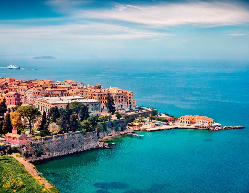 Cityscape of Corfu Town, the capital of the island, Corfu, Ionian Sea Greece