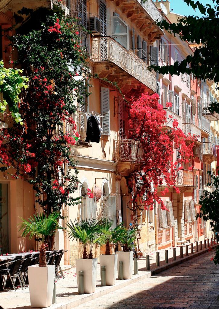 Street of the old city, Corfu, Ionian Sea Greece