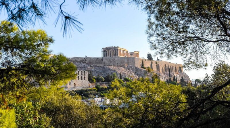 Travel to Athens, Greece - View of Akropolis and Parthenon