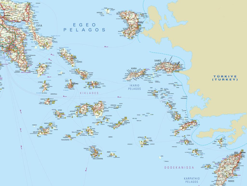 Map of the Eastern Aegean Sea