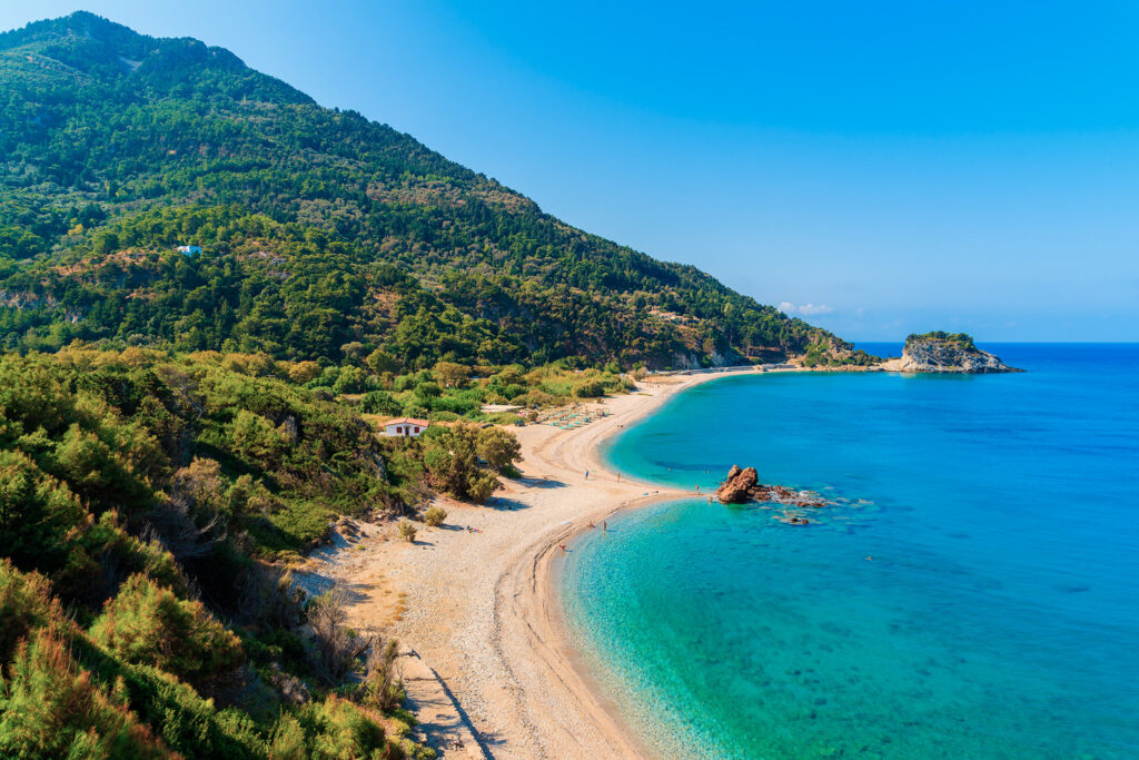 Potami beach, Samos island, Aegean Sea Greece