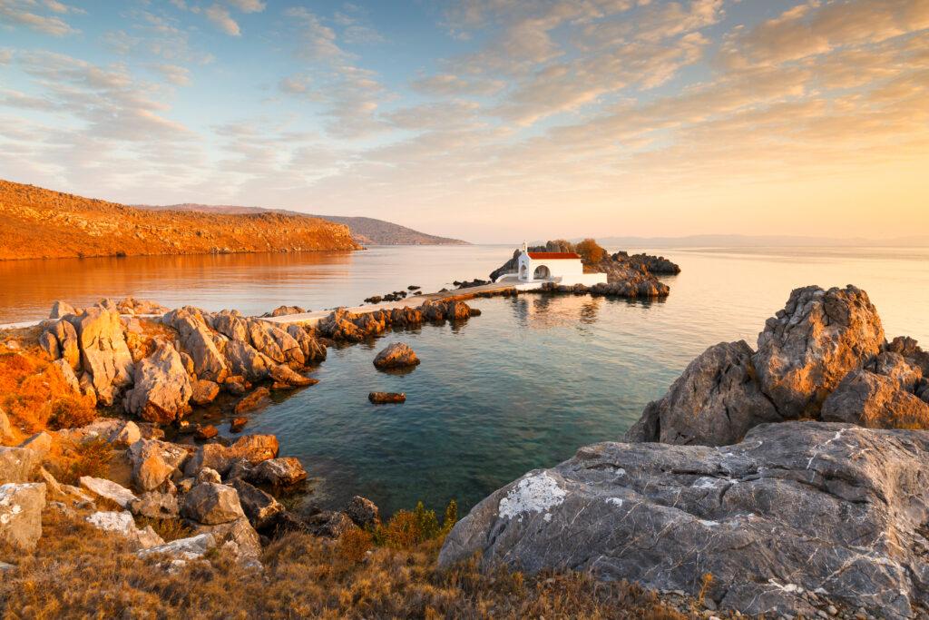 Church of Agios Isidoros in northern Chios, Chios, North Aegean Sea Greece