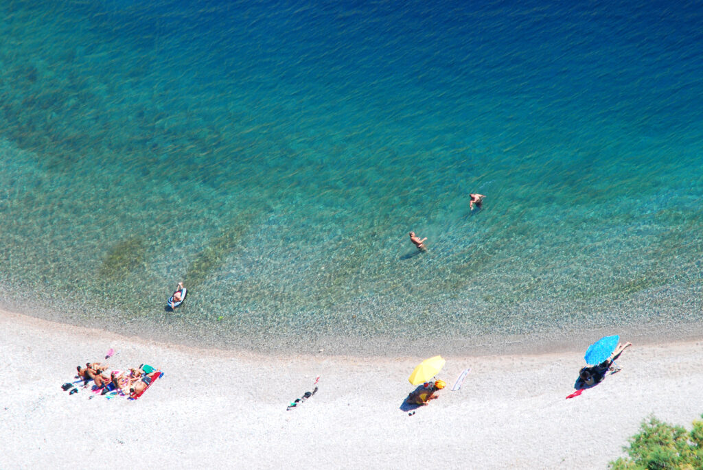 Elinda beach in Chios island, North Aegean Sea Greece