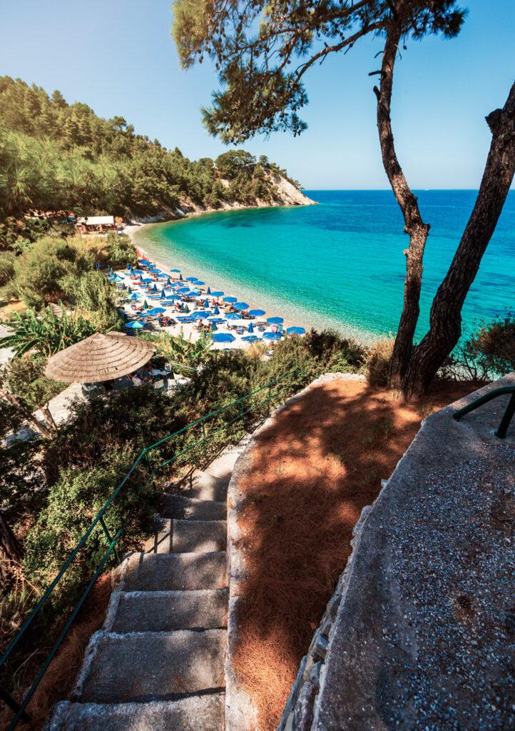 Lemonakia beach, Samos island, Aegean Sea Greece