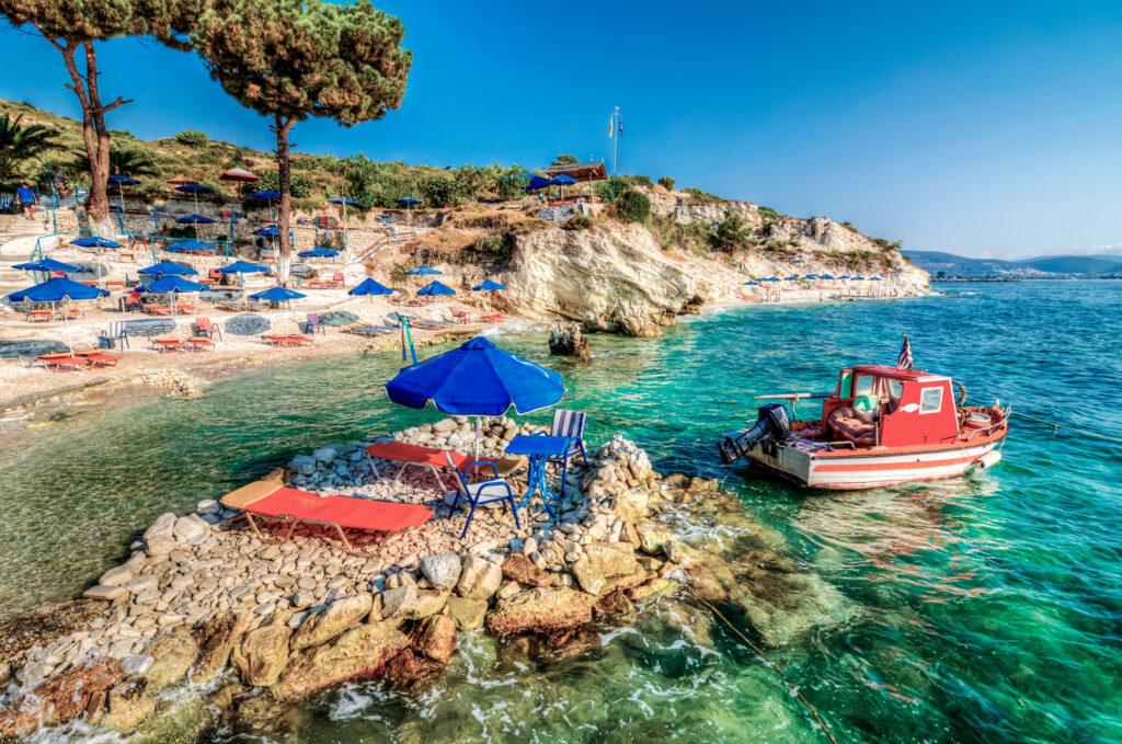 Papa beach in Samos island, Aegean Sea Greece