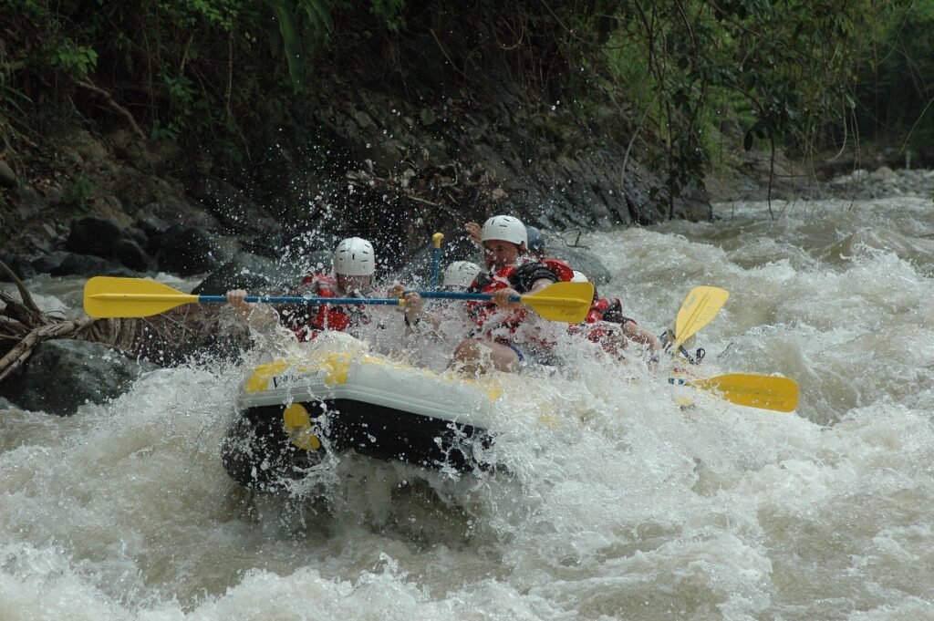 White water rafting in Greece